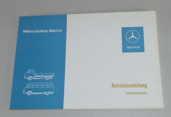 Betriebsanleitung Mercedes Benz Leichttransporter L 207 / 307 Stand 06/1976