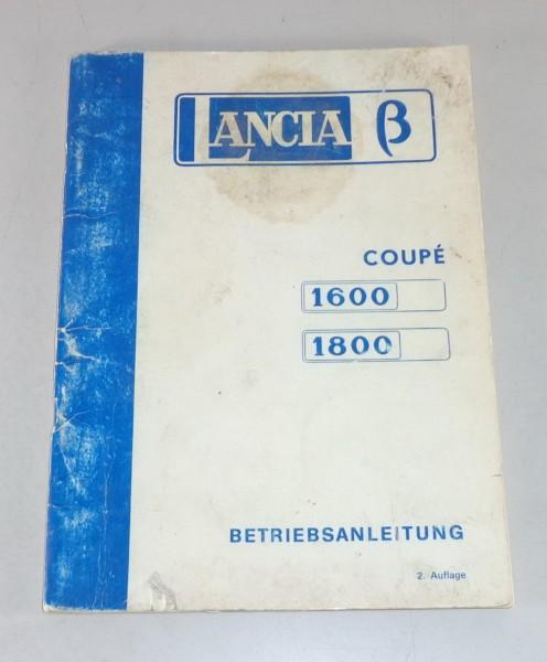 Betriebsanleitung / Handbuch Lancia Beta Coupe 1600 / 1800 Stand 04/1975