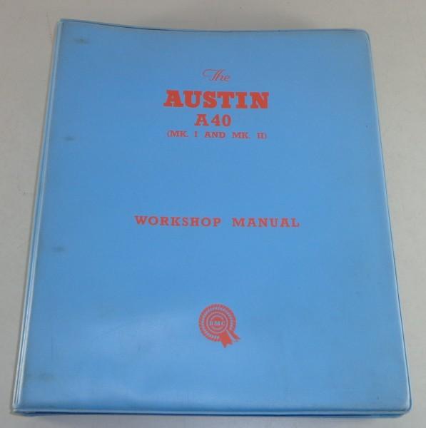 Werkstatthandbuch / Workshop Manual Austin A40 Mk. I + II