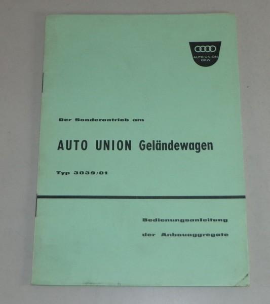Betriebsanleitung DKW Menga Zapfwellen - Antrieb + Anbaugeräte Stand 08/1961