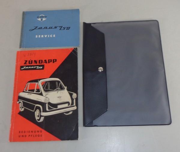 Bordmappe + Betriebsanleitung Zündapp Janus 250 von 01/1958