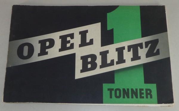 Prospekt Opel Blitz 1 Tonner von ca. 1940