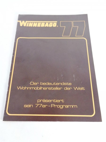Prospekt Winnebago Wohnmobile 1977 Minnie Winnie / Brave / Chieftrain etc. 1977