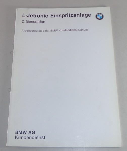 Schulungsunterlage BMW L-Jetronic elektronische Einspritzanlage in 528i etc 1982