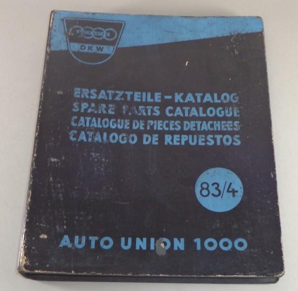 Teilekatalog DKW 1000 Stand 06/1958