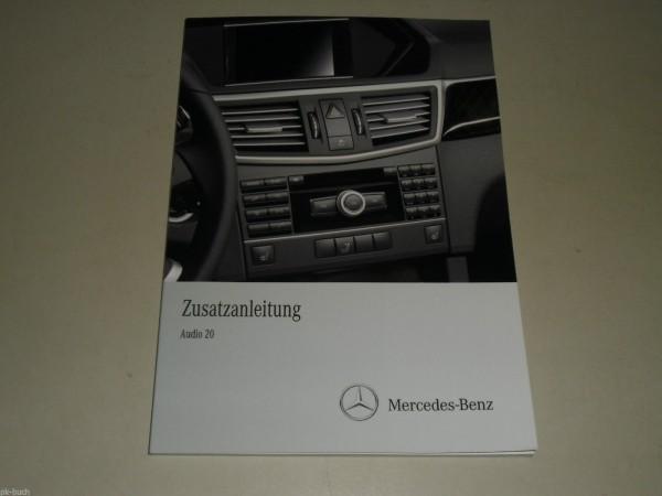 (Zusatz-) Betriebsanleitung Mercedes Benz W212 E-Klasse Radio Audio 20, 07/2010