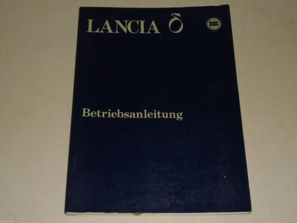 Betriebsanleitung Handbuch Lancia Delta, Stand 09/1979