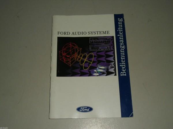 Betriebsanleitung FORD Audio System Stereo-Radio 2002 / Cassettengerät 2004/2014
