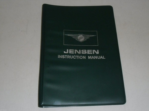 Betriebsanleitung Handbuch Owner\'s Instruction Manual Jensen C - V8 Mk. III