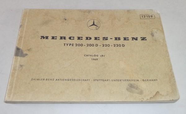 Bildkatalog Teilekatalog Mercedes Benz / 8 W115 Ausg. 05/ 1969
