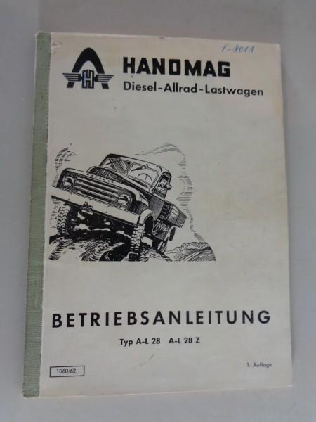 Betriebsanleitung / Handbuch Hanomag AL 28 / A-L 28 Z Stand 07/1963