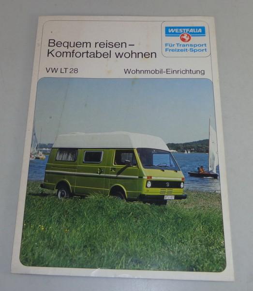 Prospekt VW LT 28 Westfalia Camper / Wohnmobil Typ Salzburg / Como Stand 1976