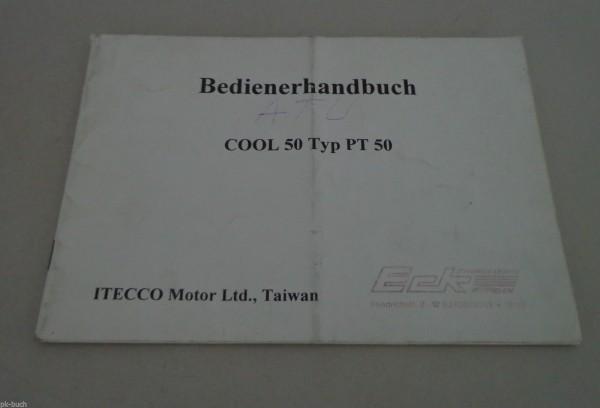 Bedienungsanleitung / Handbuch Roller ITECCO Cool 50 Typ PT 50