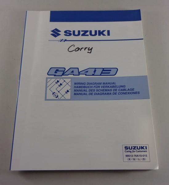 Werkstatthandbuch Wiring Diagram Manual Elektrik Suzuki Carry GA 413 on