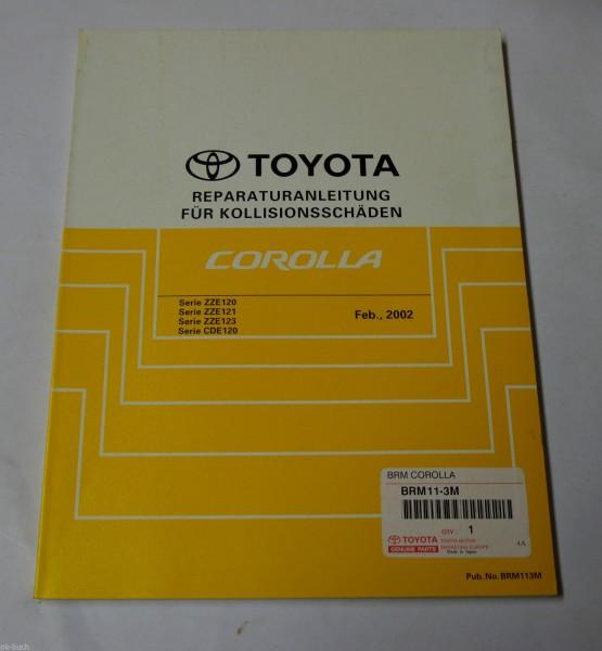 Werkstatthandbuch Toyota Corolla Karosserie / Lackierung, Stand 02/2002