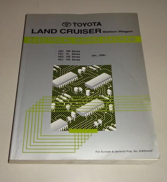Werkstatthandbuch Elektrik / Wiring Diagram Toyota Land Cruiser V8 on
