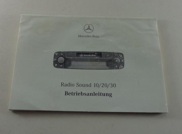 Betriebsanleitung Mercedes Benz Radio Sound 10 / 20 / 30 Stand 05/2000