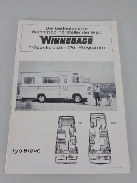Prospekt Winnebago Typ Brave / Minnie Winnie / Chieftain / Elandan II Stand 1977