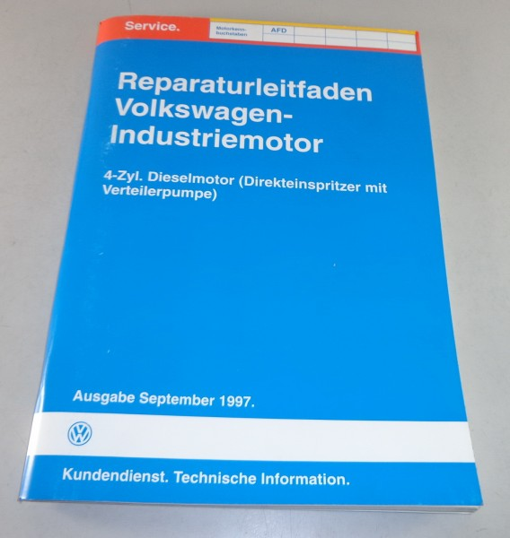 Werkstatthandbuch Reparaturanleitung VW Industriemotor Motor 4 Zyl. Diesel AFD