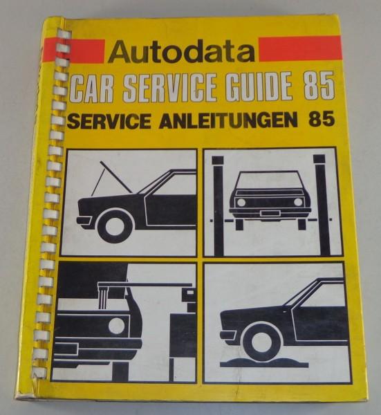 Handbuch Service Anleitung für Mercedes / Ford / VW / Nissan etc. Stand 1985