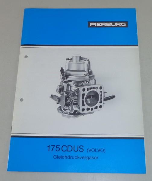 Betriebsanleitung / Handbuch Pierburg Gleichdruckvergaser 175 CDUS für Volvo