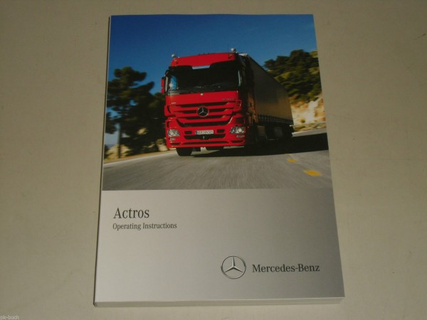 Betriebsanleitung Owner\'s Manual Mercedes Benz LKW Truck Actros MP3, Stand 2010