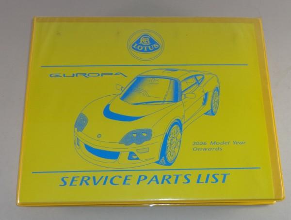 Teilekatalog / Parts list Lotus Europa Baujahre ab 2006