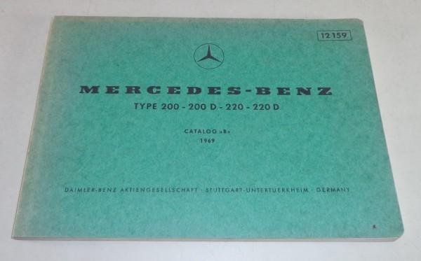 Bildkatalog Teilekatalog Mercedes Benz / 8 W115 Stand 1969