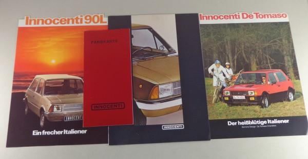 Prospekt Leyland Innoncenti 90 L + De Tomaso + Farbkarte