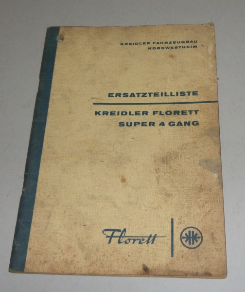 Teilekatalog / Ersatzteilliste Kreidler Florett Super 4 Gang