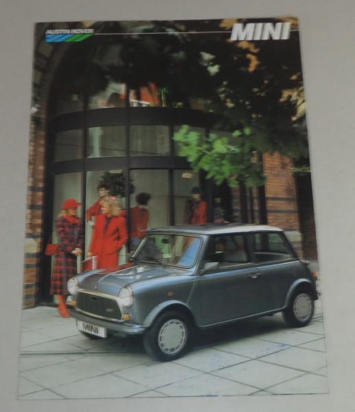 Prospekt Austin Mini Stand 11/1986