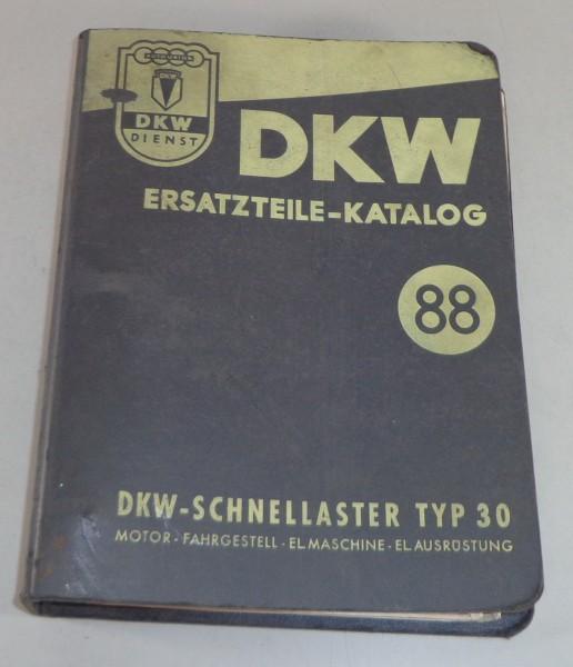 Teilekatalog / Ersatzteilliste DKW Schnellaster Typ 30 Stand 04/1955