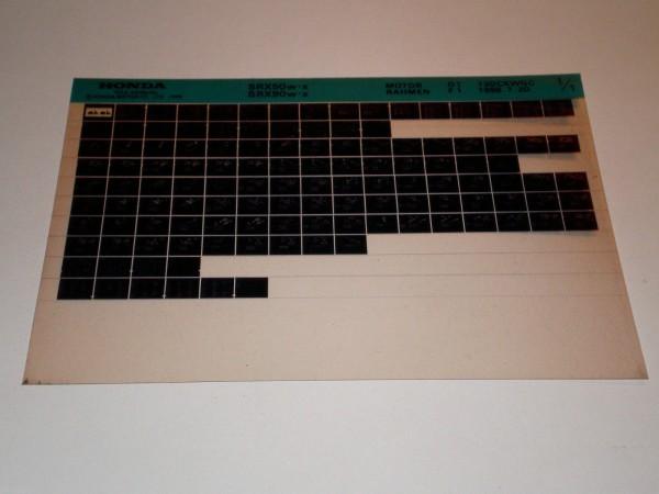 Microfich Ersatzteilkatalog Honda SRX 50 / SRX 90 Shadow Stand 07/1998