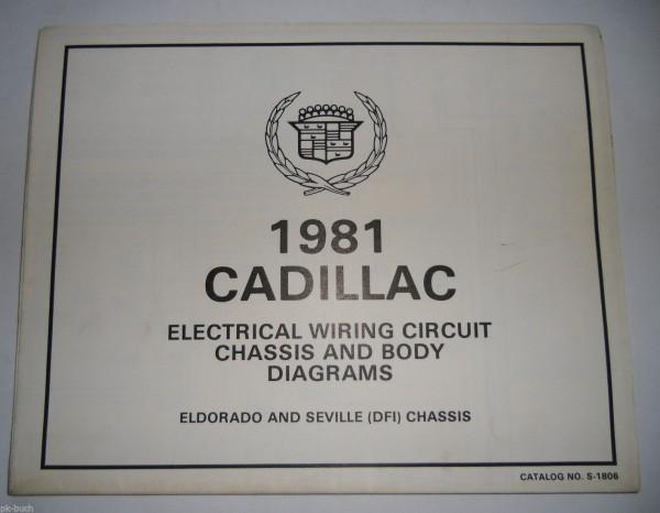 Elektrischer Schaltplan Wiring Diagram Cadillac Eldorado Seville DFI on