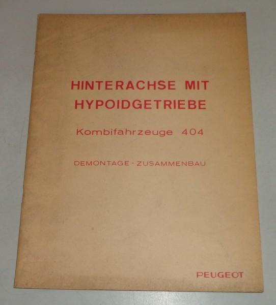 Werkstatthandbuch Peugeot 404 Hinterachse mit Hypoidgetriebe von 07/1967