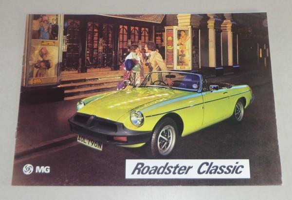 Prospekt MGB / MG B Roadster Stand 05/1976
