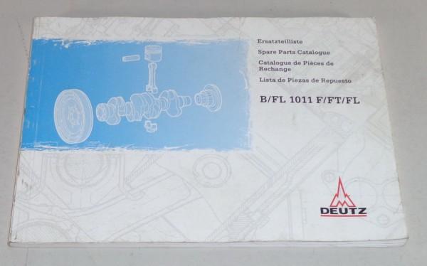 Teilekatalog / Parts list Deutz Motor B / FL 1011 F / FT Stand 06/1999