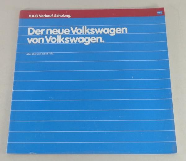 Broschüre VW Polo 86c