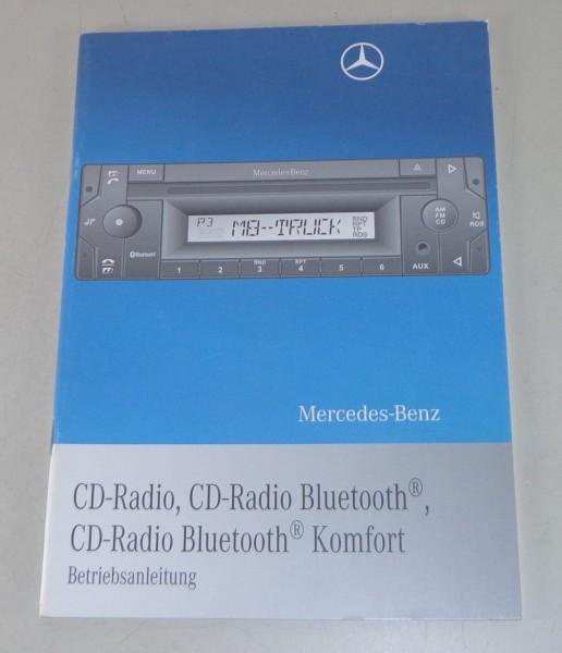 Betriebsanleitung Mercedes Benz CD Radio / CD Radio Bluetooth / Komfort - 6/2009