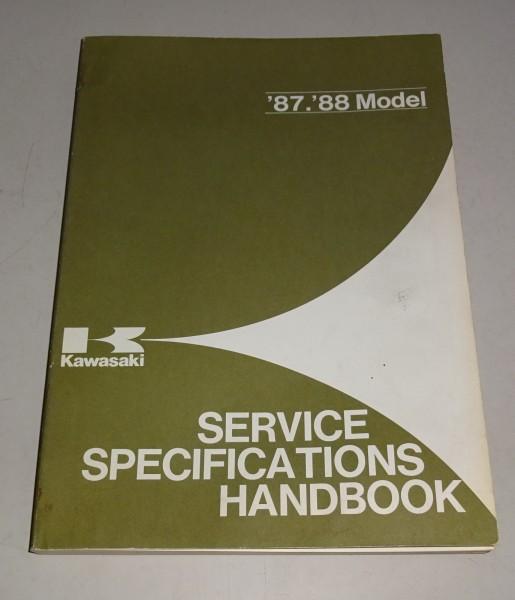 Technisches Service Handbuch Technische Daten Kawasaki 1987 - 1988