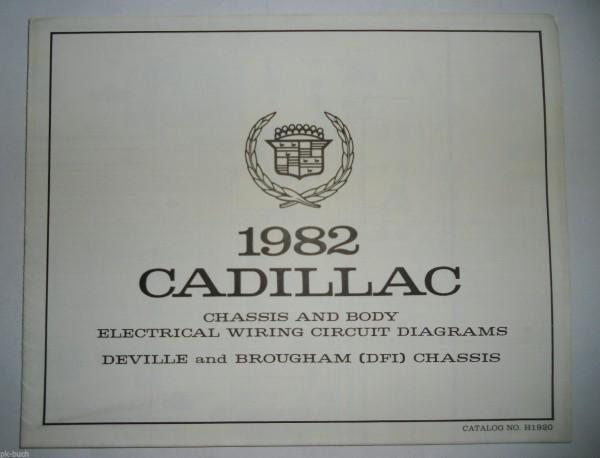 Elektrischer Schaltplan Wiring Diagram Cadillac DeVille Brougham DFI Chassis \'82