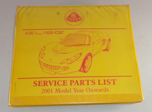 Teilekatalog / Parts list Lotus Elise ab Baujahr 2001 / 2001 model onwards