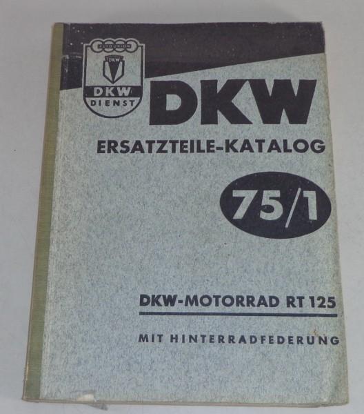 Teilekatalog DKW Motorrad RT 125 mit Hinterradfederung Stand 10/1953