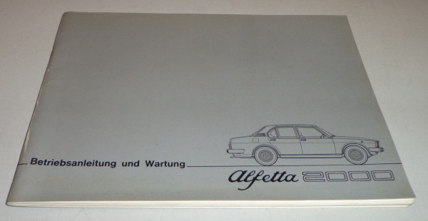 Betriebsanleitung Handbuch Alfa Romeo Alfetta 2000, Stand 05/1977