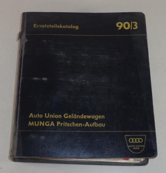 Teilekatalog DKW Munga Stand 08/1965