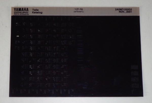 Microfich Parts Catalogue / Ersatzteilkatalog Yamaha YZF - R6 Stand 11/2001