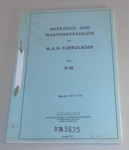 Werkstatthandbuch MAN turbolader Typ N48 Stand 1971