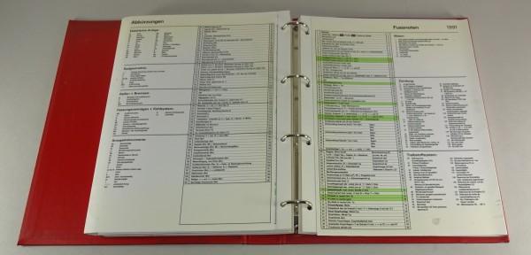 Handbuch AM-Werkstattdaten verschiedener PKW Modelle Stand 1991