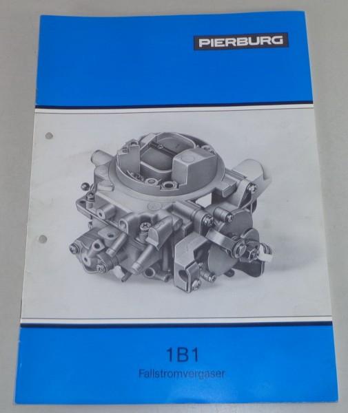 Betriebsanleitung / Handbuch Pierburg Vergaser 1B1 für VW Passat / Audi 80
