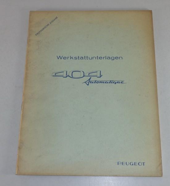 Werkstatthandbuch Peugeot 404 Automatikgetriebe Automatique von 03/1967